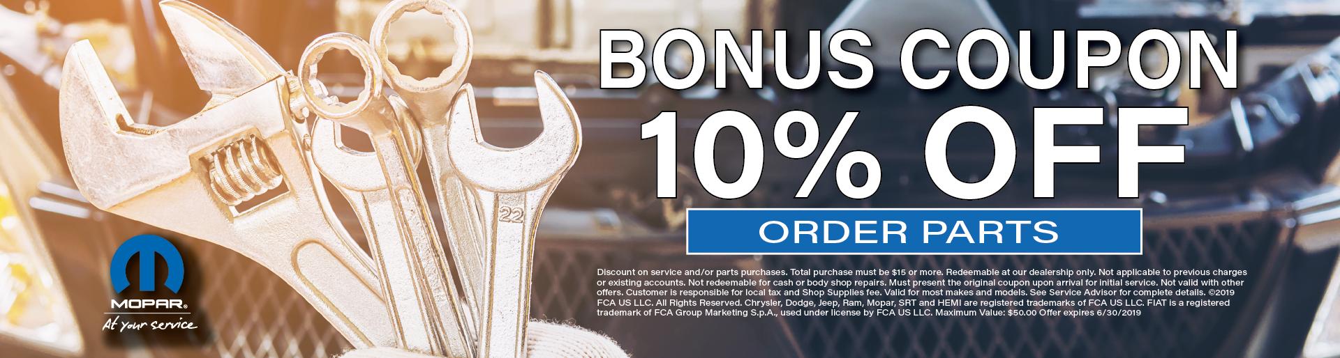 10% Off Bonus Coupon
