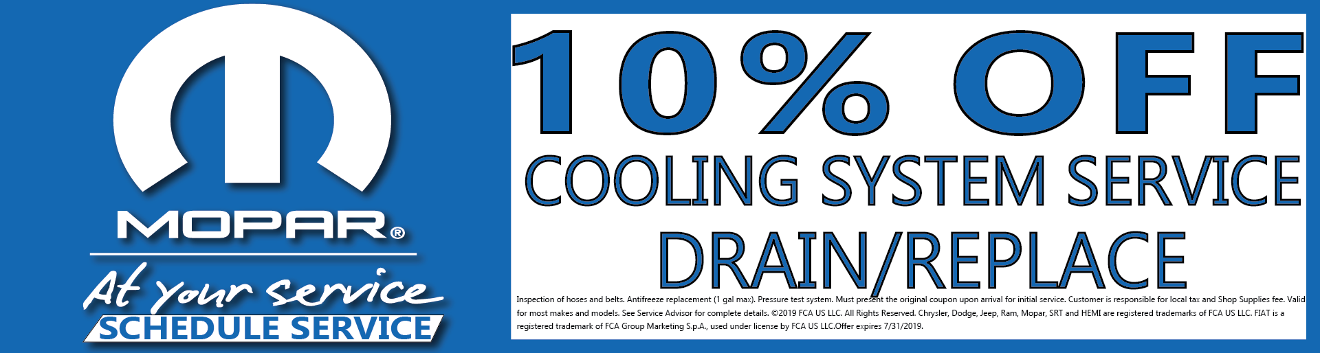 10% Off Colling System Service