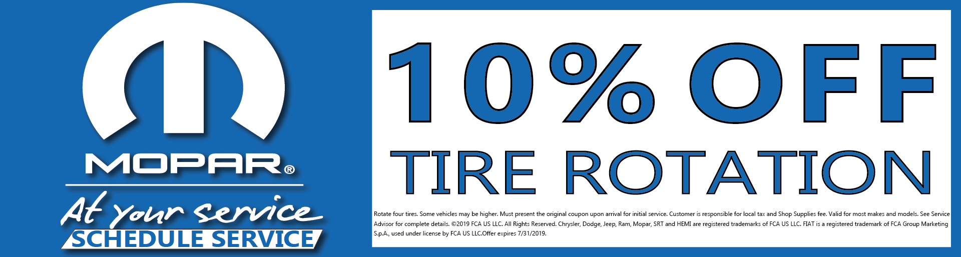 10% Off Tire Rotation Marina Dodge